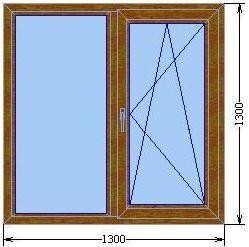 Окно с одной створкой серии «Элит»